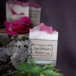 geranium soap mydło róża