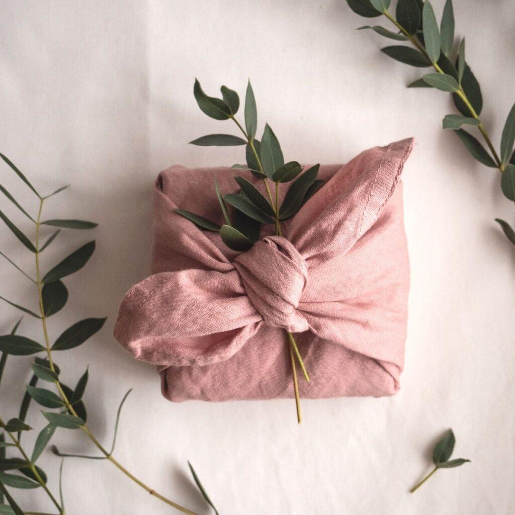 napkin pink handmade linen serwetka